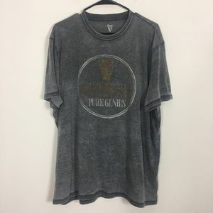 Lucky Brand Grey Guinness Beer Graphic Tshirt